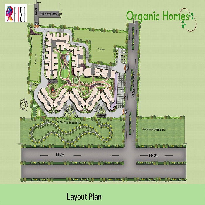 Organic homes nh 24 ghaziabad price list projects Home site plan