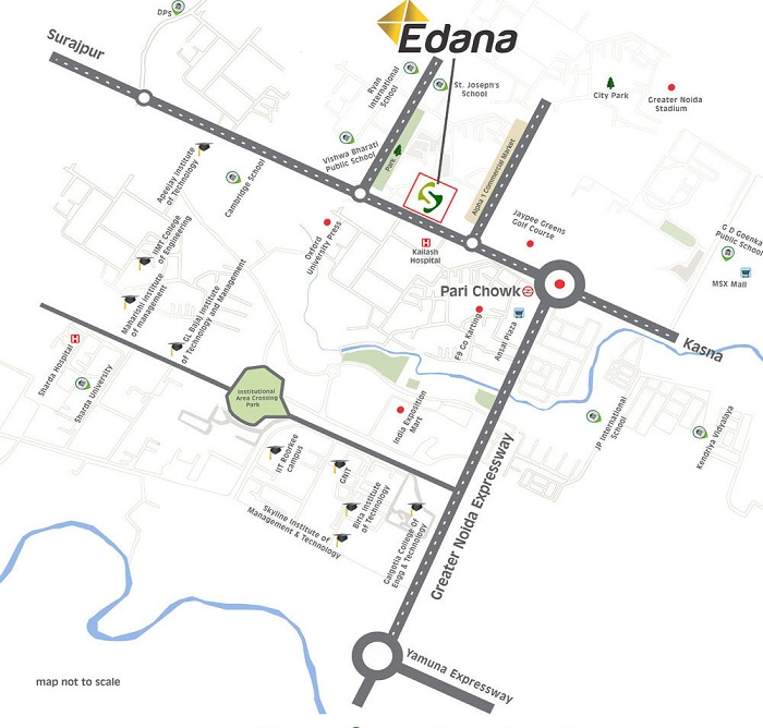 spacetech edana location map