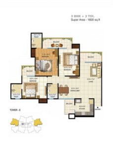 pigeon spring meadows floor plan 3bhk 3toilet 1600 sq.ft